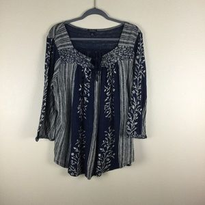 Lucky brand blue blouse. Size 1X